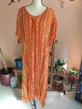 Women's dresses 3x Klozlyne BOHO Maxi Orange multi color