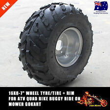 "16x8-7"" Wheel Tyre/Tire + Rim ATV Quad Bike Buggy Ride on Mower Gokart 110/125cc"