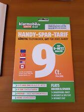 Klarmobil Prepaid Karte mit 10 € Startguthaben 9 Cent Vodafone Netz NEU OVP