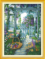 Joy Sunday Counted Cross Stitch Kit 14CT 13in x 17in The Garden Gate Embroidery