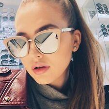 Sonnenbrille Damen Brille Vintage Blogger Trend Retro Schwarz Sommer