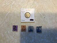 WW1 Silver coin Egypt 1917 Stamp WW1 1916 Colossi Memnon 1927 KING FAUD 10 1927