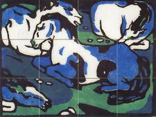 Art Marc Franz Wildlife Blue Horses Mural Ceramic Backsplash Bath Tile #2117