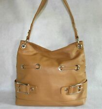 SPORTY TAN NAUTICAL HANDBAG WITH BUCKLE ACCENTS  - NEW