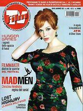 Film Tv.Mad Men, Christina Hendricks,Simon Puccioni,Luigi Magni,Pif,jjj