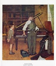 Norman Rockwell Musical Print The Piano Tuner