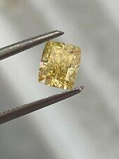 1.10 Carat GIA Cushion Fancy Intense Yellow Even SI1-SI2 Natural Loose Diamond