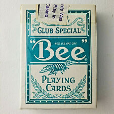 Sealed Bee No. 92 Diamond Back Club Special Playing Cards Teal Harrahs Vicksburg