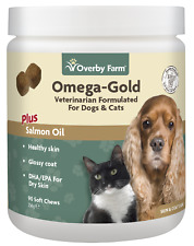 90pcs Omega Gold Salmon Oil Soft Chews For Cats & Dogs