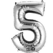 "34"" 86cm Number Phrase Foil Helium Balloons Various Colour Birthday Anniversary"