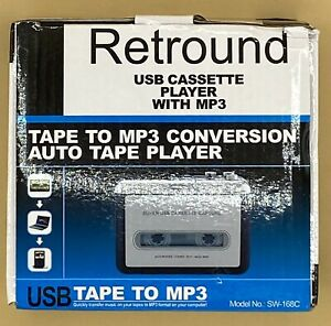 Retround USB Cassette Player With MP3 Tape To MP3 Conversion Auto Tape Player