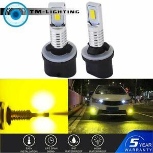 Pair 880 885 891 893 899 LED Fog Light Bulbs Kit Canbus 35W 4000LM 3000K Yellow