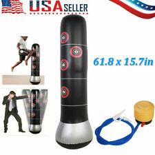 157Cm Kick Training Inflatable Boxing Punching Bag Tumbler Adult + Air Pump
