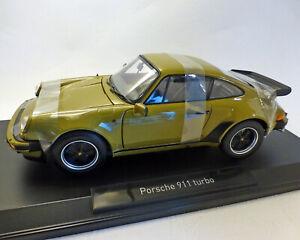 Porsche 911 Turbo 3,3, 1977, Olive, 1:18 NOREV