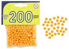 200 yellow 6mm bb balls ammunition for plastic bb gun shooting shoot airsoft