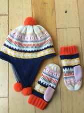Mini Boden Hat And Gloves 11-12