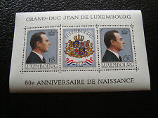 LUXEMBOURG - timbre yvert et tellier bloc n° 13 n** (Z7) stamp
