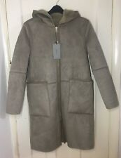 ZARA REVERSIBLE CONTRASTING COAT TAUPE CAMEL COLOUR SIZE XS RRP£90