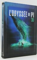 """ L'Odysée de Pi "" 3 Disques ( Blu ray 3d + Blu Ray 2d + DVD )  Steelbook metal"