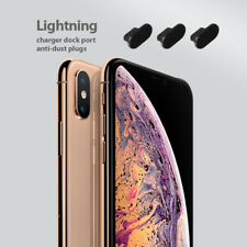 iPhone XS Charging Port Cover Lightning Plug Set 3 Pack Anti Dust Silicone Cap
