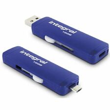 Integral 16GB Slide OTG USB 3.0 Flash Drive for Android, PC & Macs.