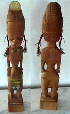 Gorgeous Hand Carved Beautiful Wood Carving of African Pregnant Woman Art Deco.