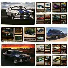 FORD FALCON GTHO XY AUSSIE MUSCLE CAR TIN LICENCE PLATE BAR MAN SHED-GARAGE