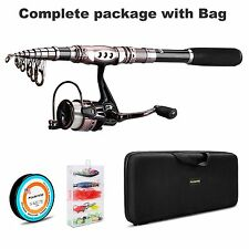 PLUSINNO Spinning Rod and Reel Combos FULL KIT Telescopic Fishing Rod Pole with