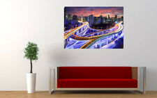 """HONG KONG SKYLINE NIGHT NEW LARGE ART PRINT POSTER PICTURE WALL 33.1""""x23.4"""""""