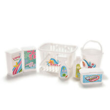 Dolls Miniature Laundry Room Acces Cleaning Tools for Barbie Doll 7pcs/set