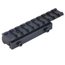 Picatinny Rail Extension 11mm to 21mm Weaver Mount Adapter Converter 10 Slots
