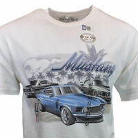 Mens Tee T Shirt M L XL 2XL Ford Mustang Logo American Muscle Cars Racing NEW