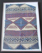 """Signed & Framed Jack Silverman Collection Poster """"Navajo Poncho Serape"""" 1987"""
