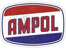 NEW Ampol Die Cut tin metal sign