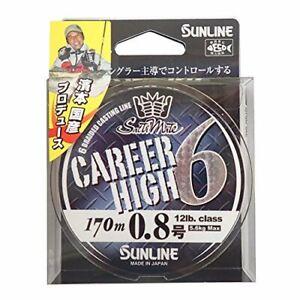 SUNLINE Line Saltimate Career High 6 170m  12lb #0.8 Fishing Line
