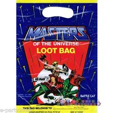 HE-MAN VINTAGE FAVOR BAGS (8) ~ Birthday Party Supplies Treat Loot Goody MOTU