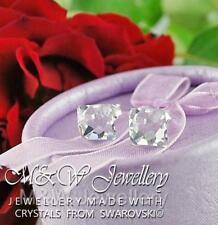 925 Silver Stud Earrings Crystals From Swarovski® FLAT BACK CUT Crystal 8mm