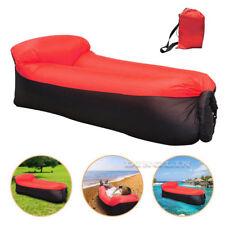 fast inflatable air sleeping bag camping bed beach hangout lay lazy bag sofa hot