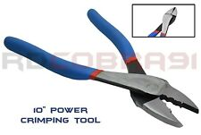 "1 Pc Crimping & Wire Cutting 10"" Pliers Wire Terminals Butt Connector Crimper"