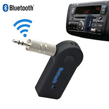 Wireless Bluetooth Audio Receiver AUX 3.5mm Stereo Music Car Adapter Dongle Mic