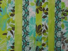 25 JELLY ROLL STRIPS 100% COTTON PATCHWORK FABRIC BLUE LAGOON 22 INCH LONG