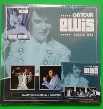 ELVIS PRESLEY - ON TOUR ELVIS 9 APRIL 1972 HAMPTON COLISEUM -2 BLUE VINYL & CD