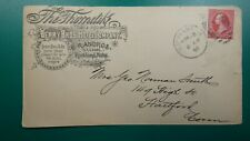 USA illustrated advert cover 1896 Thorndike horse livery stable Maine