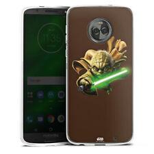 Lenovo MOTO g6 PLUS IN SILICONE GUSCIO Case Cellulare-Yoda