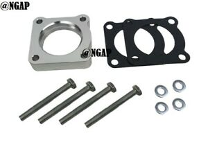 Silver Throttle Body Spacer Fit 93-99 Mitsubishi 3000GT 00-05 Eclipse Galant 3.0