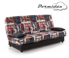 Sofas sofa cama London, arcón de madera, facil apertura, desenfundable