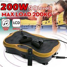 Body Vibration Machine Plate Platform Massager Music Fitness 200W 110V