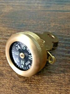 Marbles Pin-On Compass Brass Construction
