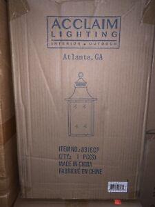 "Acclaim Lighting 8316 St. Charles 3 Light 10""W Outdoor Lantern - Copper"