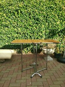 Vintage Retro  70s Formica and Chrome Kitchen Fold Down Table